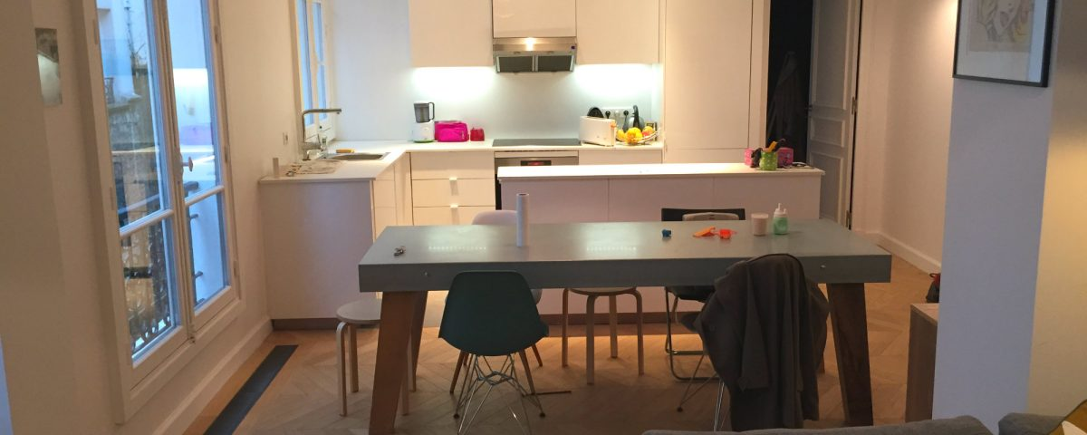 2016 travaux renovation appartement transformation F2 en F3 Paris rue Damremont_Eolh btp france 12