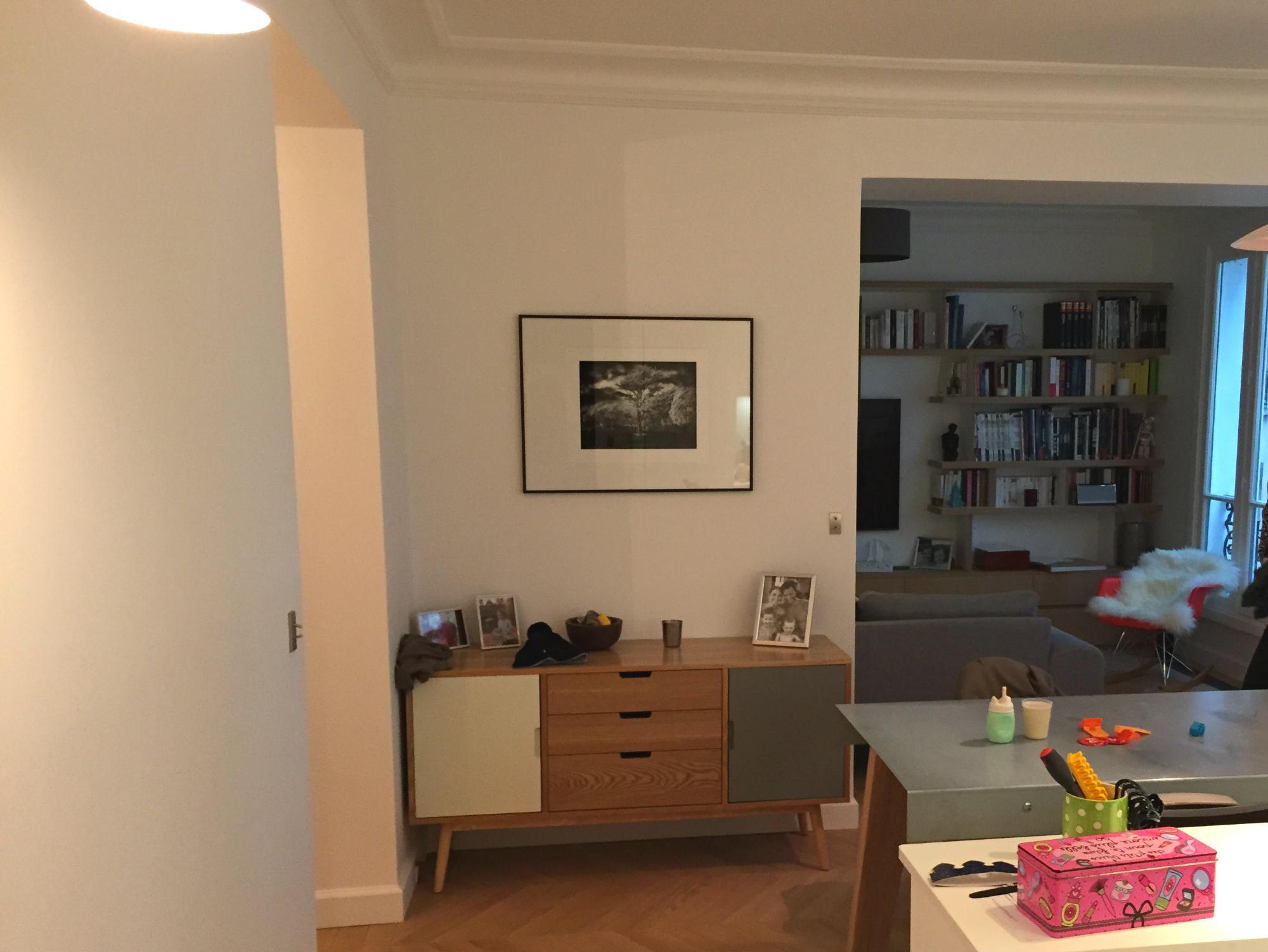 2016 travaux renovation appartement transformation F2 en F3 Paris rue Damremont_Eolh btp france 13