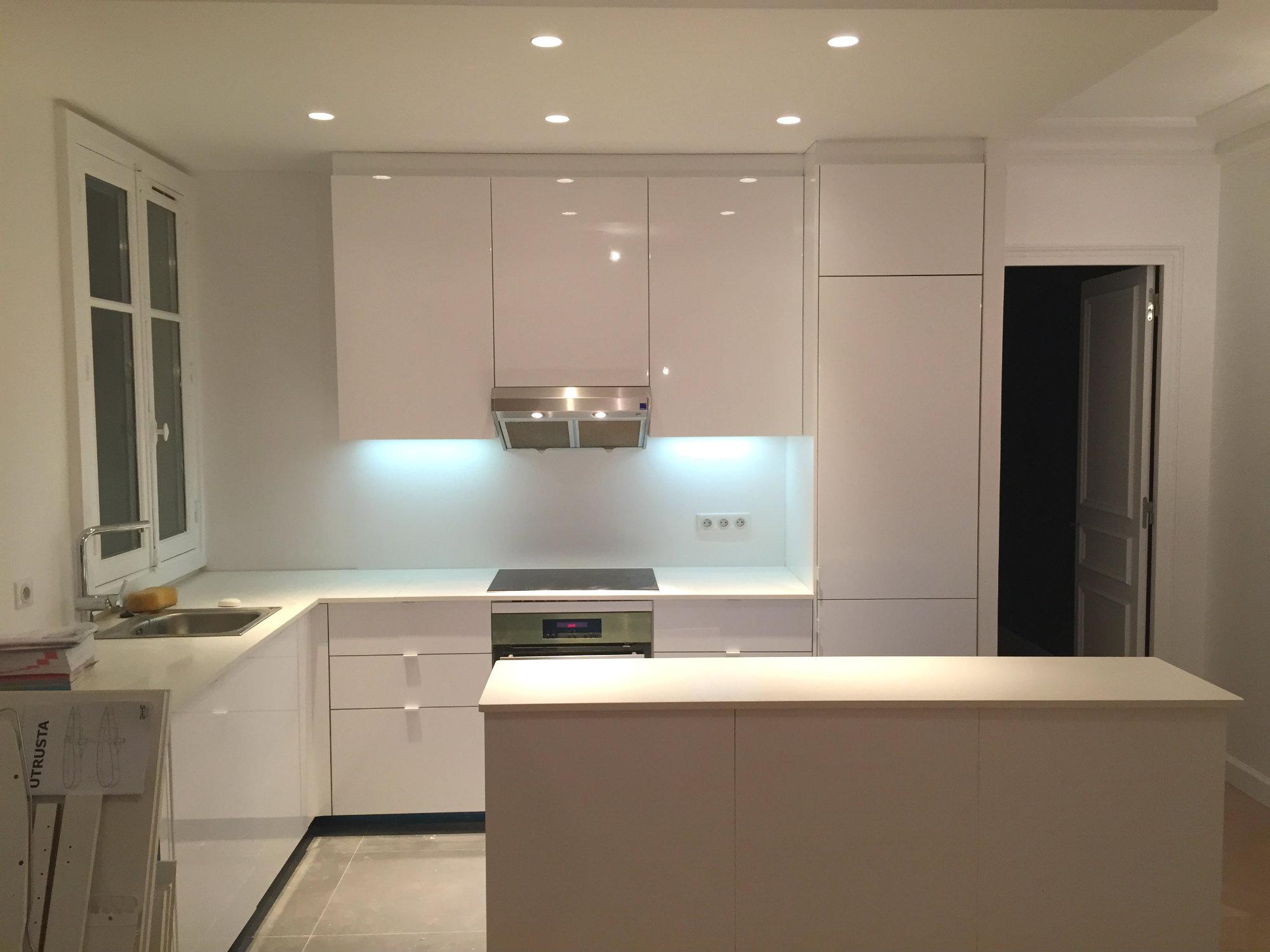 2016 travaux renovation appartement transformation F2 en F3 Paris rue Damremont_Eolh btp france 7