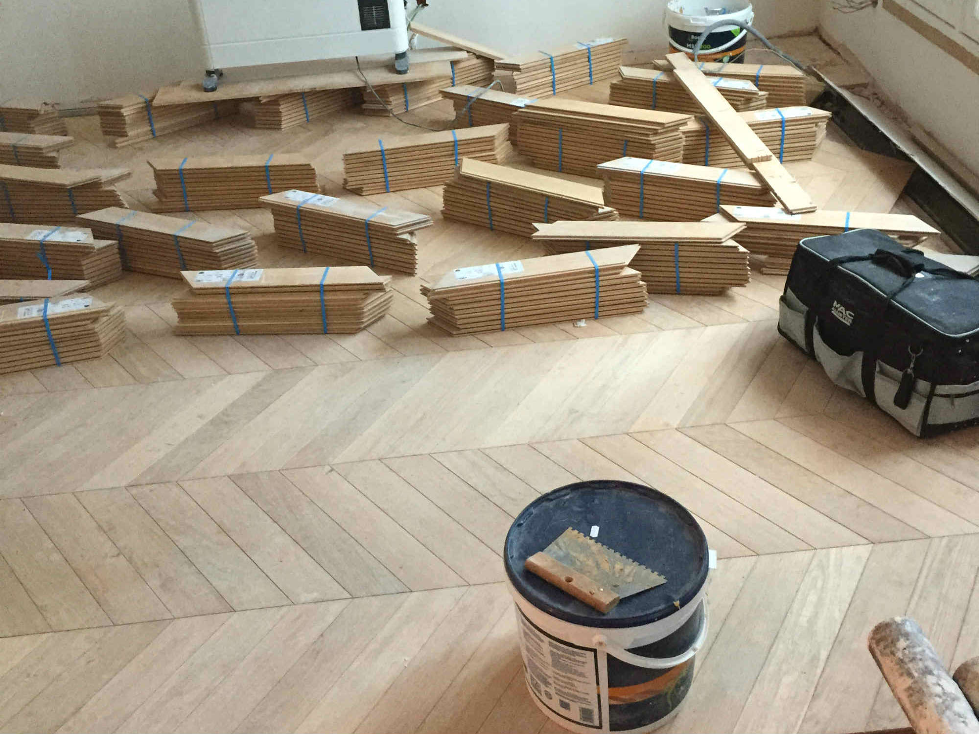 2016 travaux renovation appartement transformation F2 en F3 Paris rue Damremont_Eolh btp france